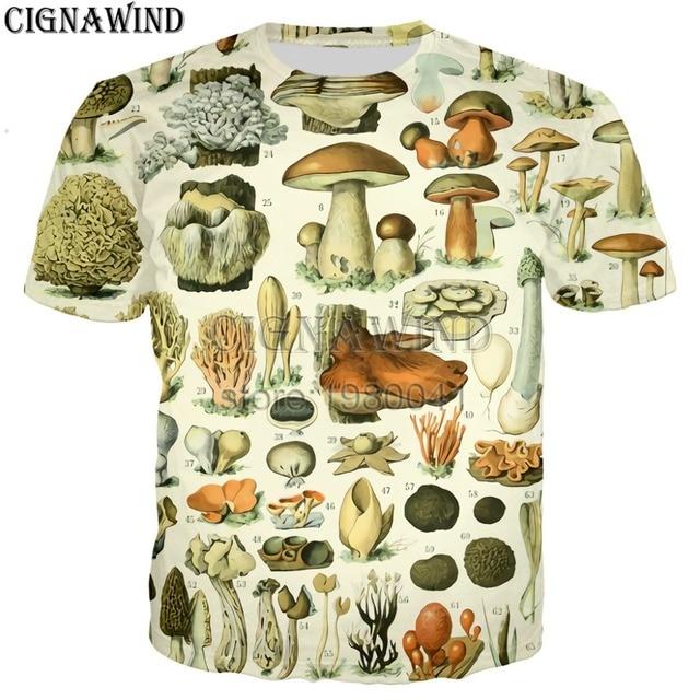 f99868d20 New harajuku popular mushroom collage t shirt men women tee shirts Novelty  animals printed 3d tshirt streetwear funny t-shirts