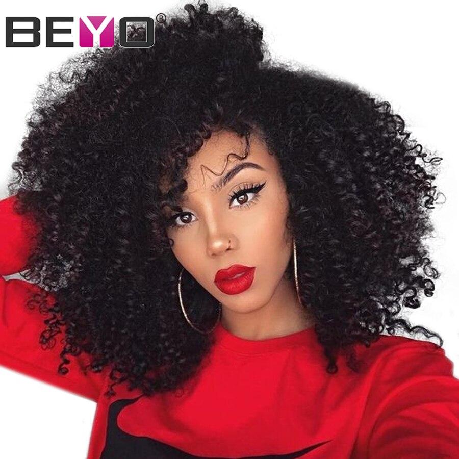 360 Dentelle Frontale Perruque Pré Pincées Avec Bébé Cheveux Brésiliens Crépus Bouclés Perruque Avant de Lacet Perruques de Cheveux Humains Pour Le Noir femme Remy Beyo