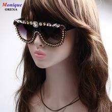 2017 NEW Fashion Original Design Women Sunglasses Vintage  Exaggerate Sunglasses For Female Luxury Crystal  Oversized Eyeware