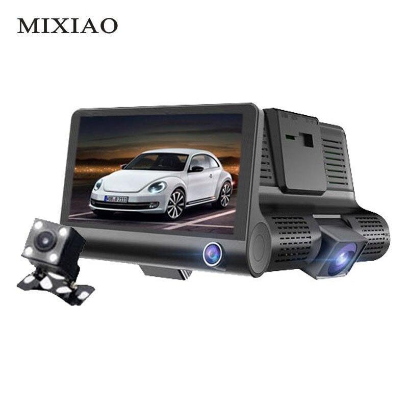 4.0 Inch 3 Way Camera Car DVR HD 1080P Video Recorder Camera Dual Lens with Rear view Registrar Dash Cam Night vision Camcorder