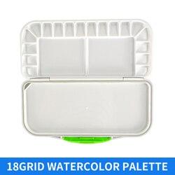 1 stuk 18 Grid Vouw Water Kleurenpalet Professionele Art Plastic Palet Aquarel Voor Tekening Kunst School Supplies