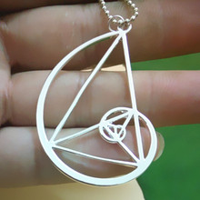 golden triangle necklace – Fibonacci – golden ratio With 50cm chain
