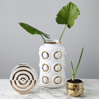 Centerpieces Gold Flower Vases Home Decor Ceramic Vases Table Vase Modern