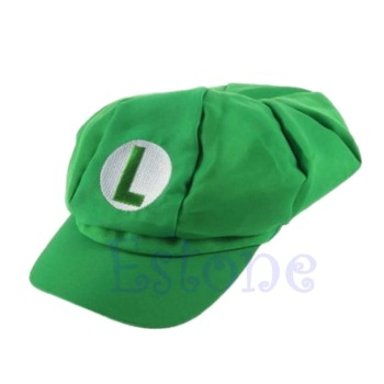 New Fashion Luigi Super Mario Bros Cosplay Adult Size Hat Cap Baseball Costume cosplay adults and kids super mario bros cosplay dance costume set children halloween party mario