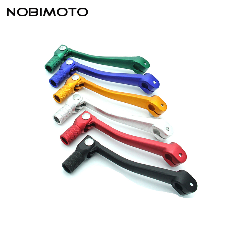CNC Aluminum Folding Gear Shift Lever High Quality Gear Shift Lever Fit For 100cc-250cc Engines Pit Dirt Bike Motocross CNC-208 cnc gear shifter shift lever 7108 for crf250r 04 09 crf250x 04 09 crf450r 02 motorcycle motocross mx enduro dirt bike off road