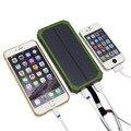 10000 мАч Путешествия Водонепроницаемый Солнечной Банк силы Dual USB Внешний Аккумулятор Солнечное Зарядное Устройство Powerbank для Iphone 6 s С СВЕТОДИОДНЫЙ Свет Лагеря