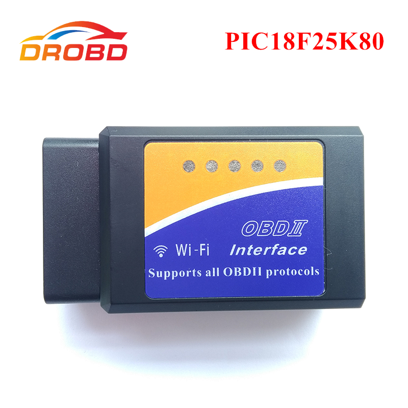 Chip diagnostico-Strumento ELM327 Wifi V1.5 con PIC18F25K80 OBD2 Elm 327 V1.5 OBDII per Android/IOS/PC Car Code Scanner