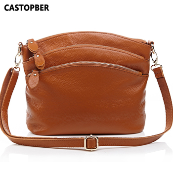 Fashion Women Messenger Bags Cowhide 100% Genuine Leather Cross Body Shoulder Bags Handbags Womens Famous Brands High Quality
