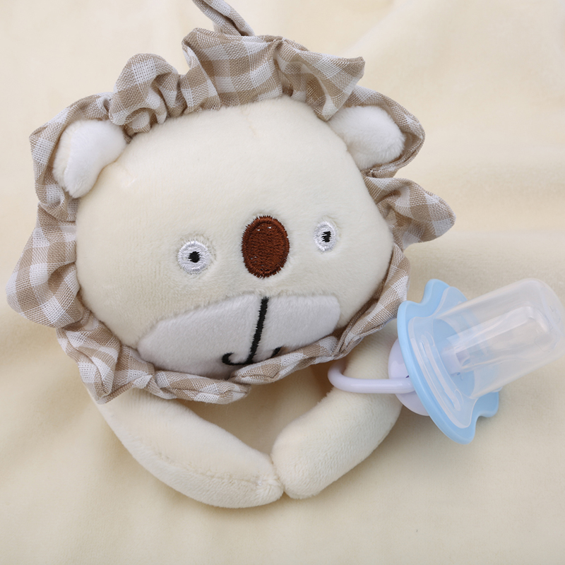Creative Rattles Infant skin-friendly Sleeping Doll Toys Hand Rattles Cute Plush Animals Strollers For Dolls Rattle Popular Toy