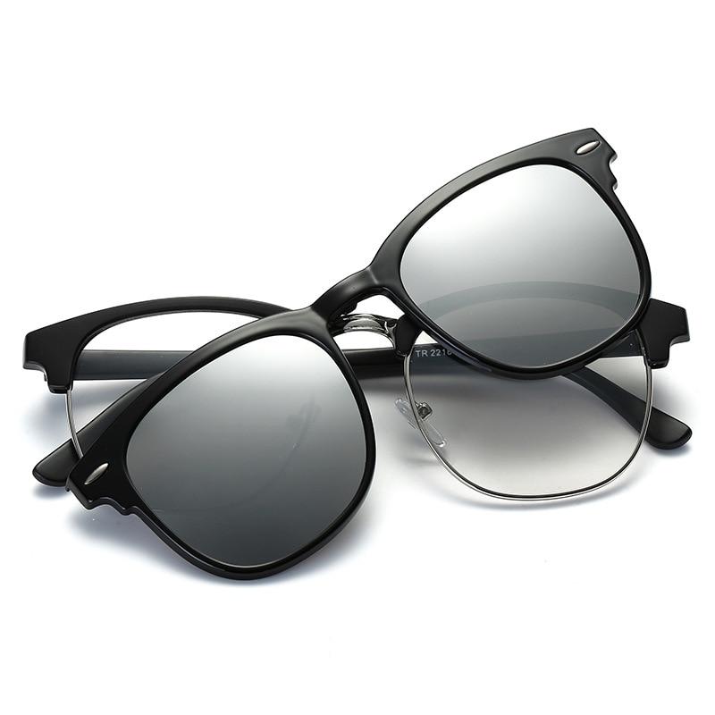 34f0c50daf Polarized Magnetic Clip On Men Myopia Glasses Lightest Woman Semi Rimless  Eyeglasses Frame Men Sunglasses Magnet Clip NightVison-in Eyewear Frames  from ...