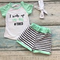 baby girls  spring outfit girls i woke up like this TIGER clothing girls summer shorts outfits boutique sets with  headband