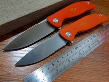 5PCS/LOT Hot sale Efeng F3 Camping Folding Knife D2 Blade G10 Handle Pocket Tactical Knife Flipper Outdoor Orange Color Knives