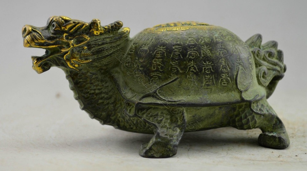 christmas Asia Collectible Decorated Bronze Carved Dragon Tortoise Statue halloweenchristmas Asia Collectible Decorated Bronze Carved Dragon Tortoise Statue halloween