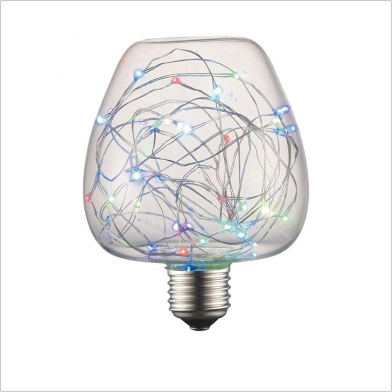 2018 E27 Lamp The Latest Novelty Bulb Apple Colorful Copper Wire LED Lights Atmosphere Lamp