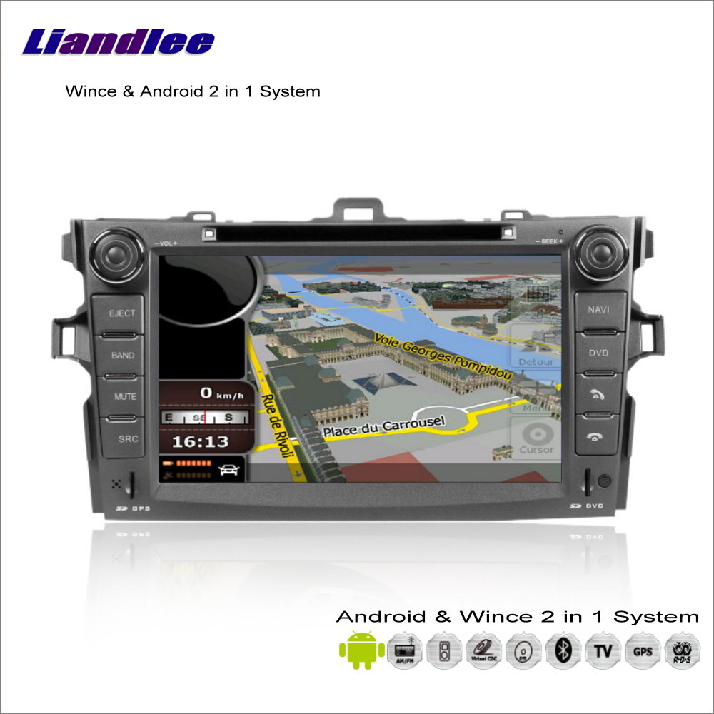 Liandlee Car Android Multimedia Stereo For <font><b>Toyota</b></font> <font><b>Corolla</b></font> Axio / E140 <font><b>E150</b></font> 2006~2013 Radio DVD Player GPS Navigation Audio Video image