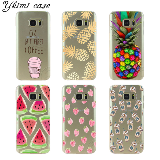 new arrival 225d6 d8b7d US $1.47 18% OFF|fashion Beautiful pineapple phone cases for Samsung Galaxy  S3 S4/S4 mini S5/S5 mini S6/S6edge S7/S7 edge case Transparent cover-in ...