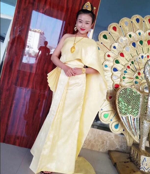 Dai Ethnic Clothing Woman Traditional Thailand Dress Thai Dresses Wedding Dress