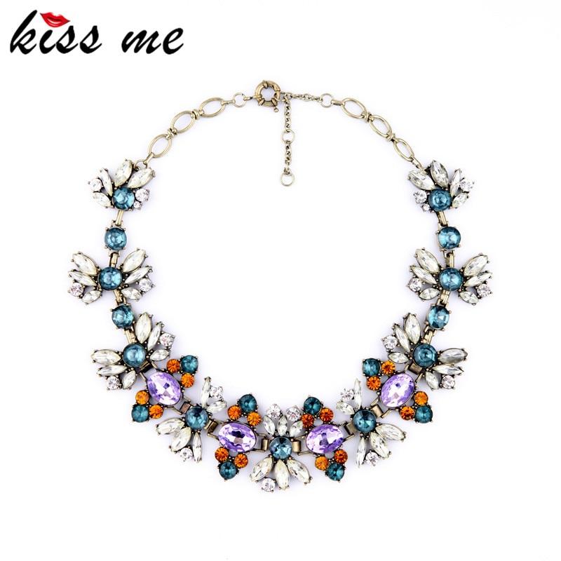 KISS ME модные аксессуары винтажное роскошное Хрустальное короткое дизайнерское ожерелье рождественские подарки