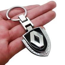 цена на 1pcs 3D Metal Car Key Ring Emblem Keychain Reynolds Accessories car Key Chain for Renault Megane 2 3 Duster Logan Clio Laguna 2