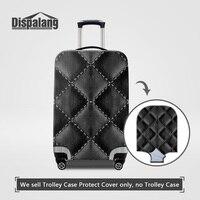 Dispalangสีดำกรณีในกระเป๋าเดินทางสำหรับการเดินทางกระเป๋าป้องกันครอบคลุมป้องกันฝุ่นกันน้ำฝนส...