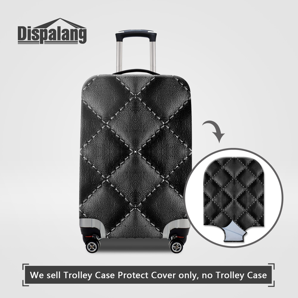 Dispalang Black Case On Suitcase For Travel Luggage Protective Covers Anti-dust Waterproof Rain Cover For Trolley Case Wholesale protective silicone back case cover w anti dust plug for iphone 5 5s transparent black