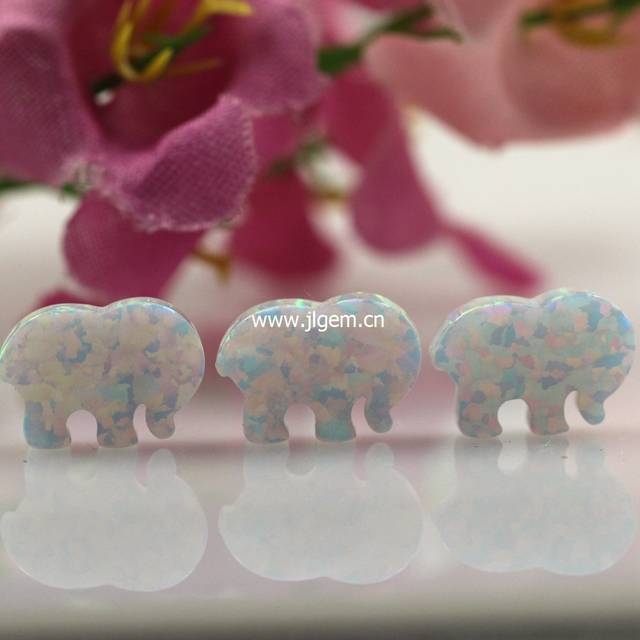 c0610074c4c7 Online Shop 1PC Free Shipping Elephant Opal Pendant Ivory Ella Elephant  Fire White Light Blue Green Pink For Opal Bracelet And Necklace