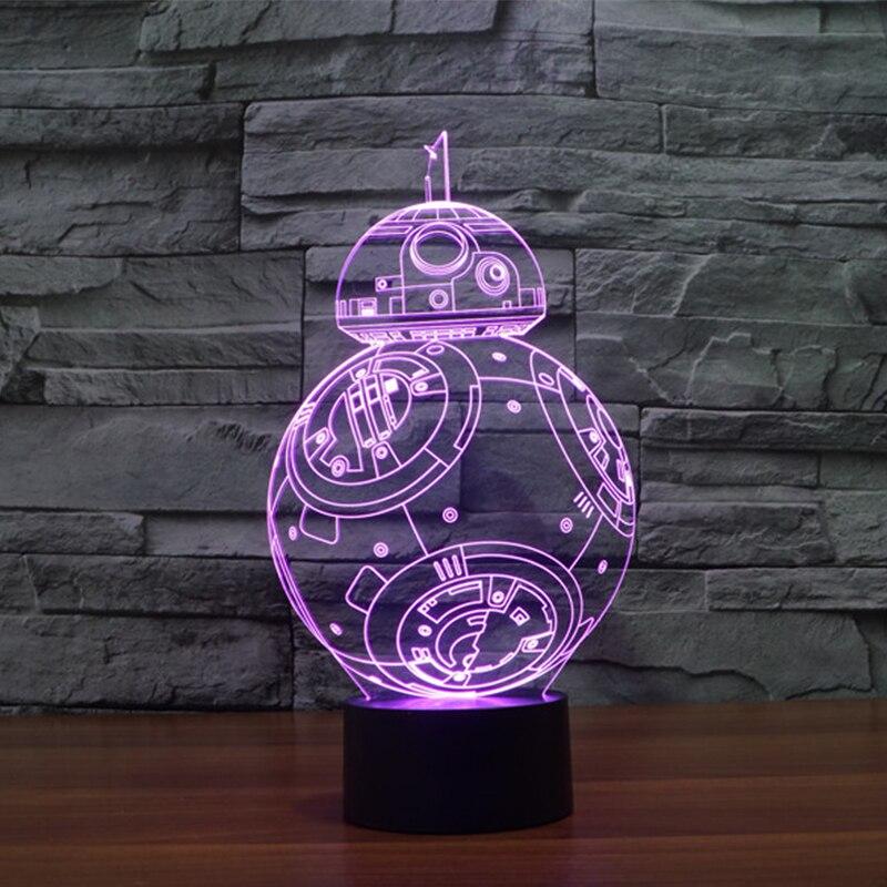 Luzes da Noite visual 3d star wars conduziu Modelo Número : Iy803320
