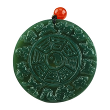Natural Hetian jade Chinese Zodiac eight trigrams pendant fashion Men Necklace pendant jewelry gifts natural jadeite chinese zodiac jade pendant zodiac monkey transshipment jade yu pei necklace pendant send a certificate