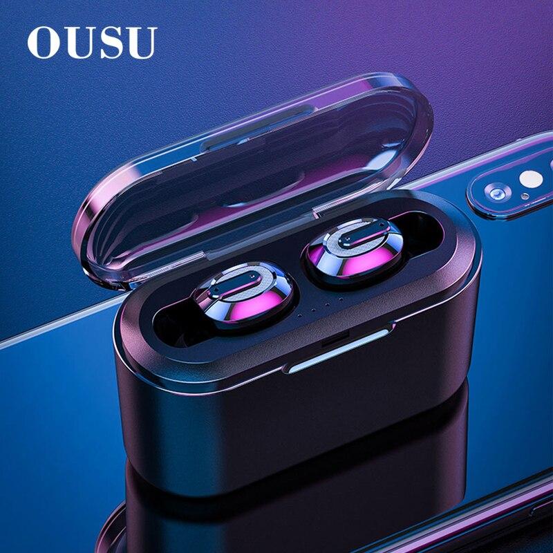 OUSU Invisible Bluetooth 5.0 Earphone TWS mini Wireless Earphones Sport Earbuds Handsfree Earpiece ecouteur sans fil bluetooth-in Bluetooth Earphones & Headphones from Consumer Electronics