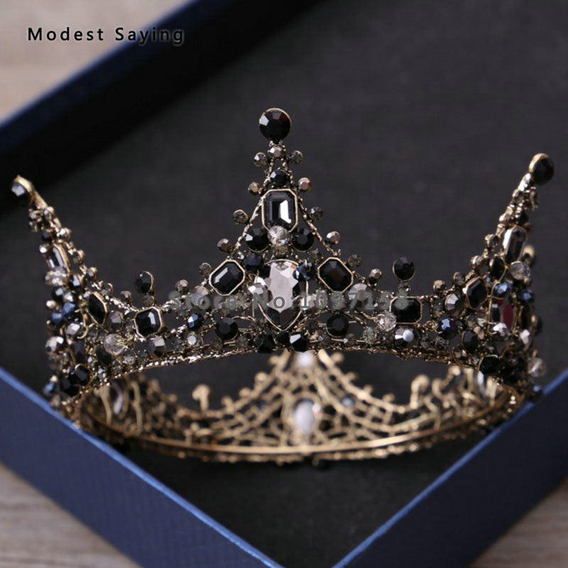 Gothic Black Wedding Tiaras 2018 with Crystal Queen s Head Crowns Bridal  Hair Jewelry Wedding Accessories Pageant Prom Headpiece - aliexpress.com -  imall. ... b8948aed4a61