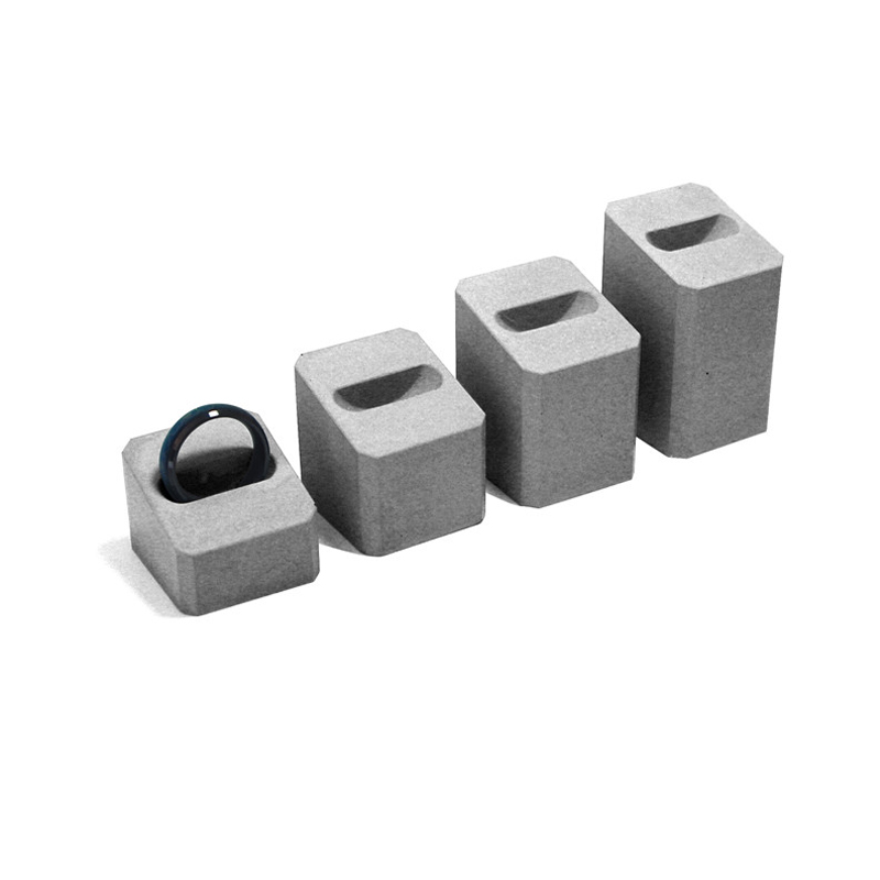 Cement Concrete Ring Holders Ornaments Simple Retro Retro Jewelry Display Jewelry Stores Silicone Mold