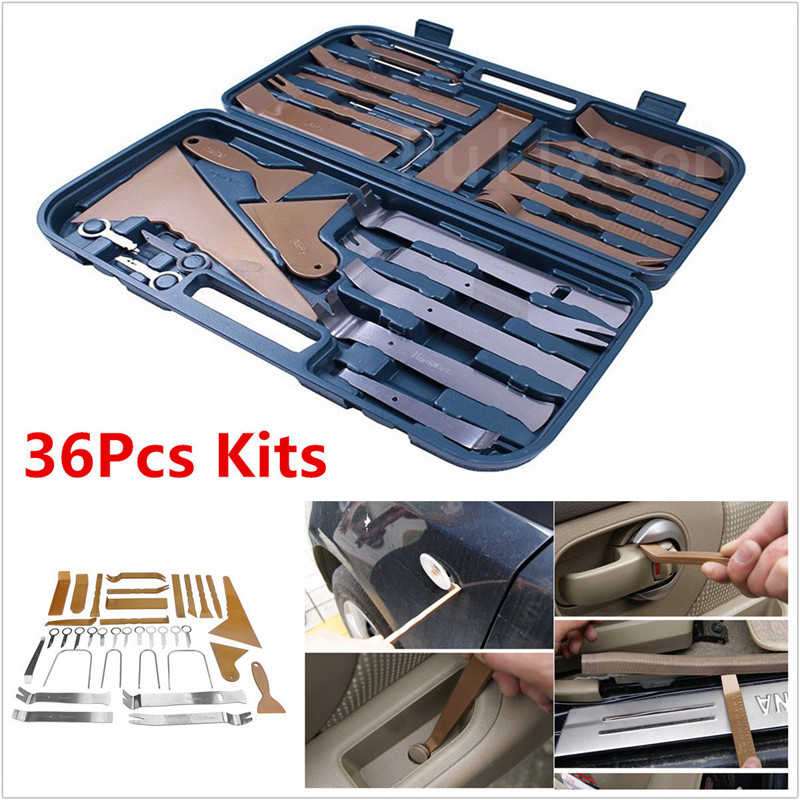 36pcs/Set Car Audio Door Panel Install Tool Moulding Trim Dash Stereo Remove Pry Tools