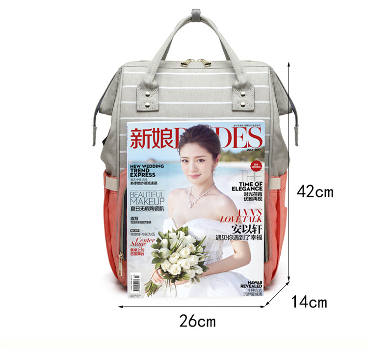 HTB1RWUga1H2gK0jSZJnq6yT1FXad LEQUEEN USB Diaper Bag Baby Care Backpack for Mom Mummy Maternity Wet Bag Waterproof Baby Pregnant Bag