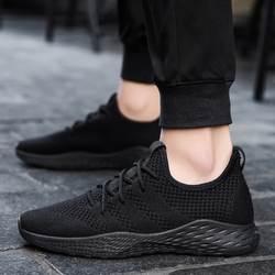 Мужские дышащие Сникеры; Мужская обувь для взрослых; цвет красный, черный; мужская повседневная обувь высокого качества; коллекция 2019 года;