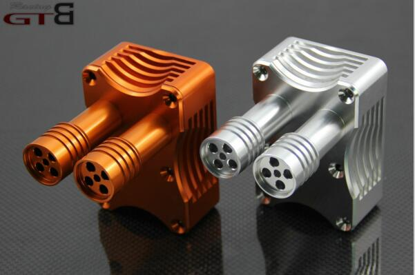 GR exhaust box For 1/5 HPI Baja  5B  5T 5SC alloy front hub carrier for 1 5 hpi baja 5b 5t 5sc