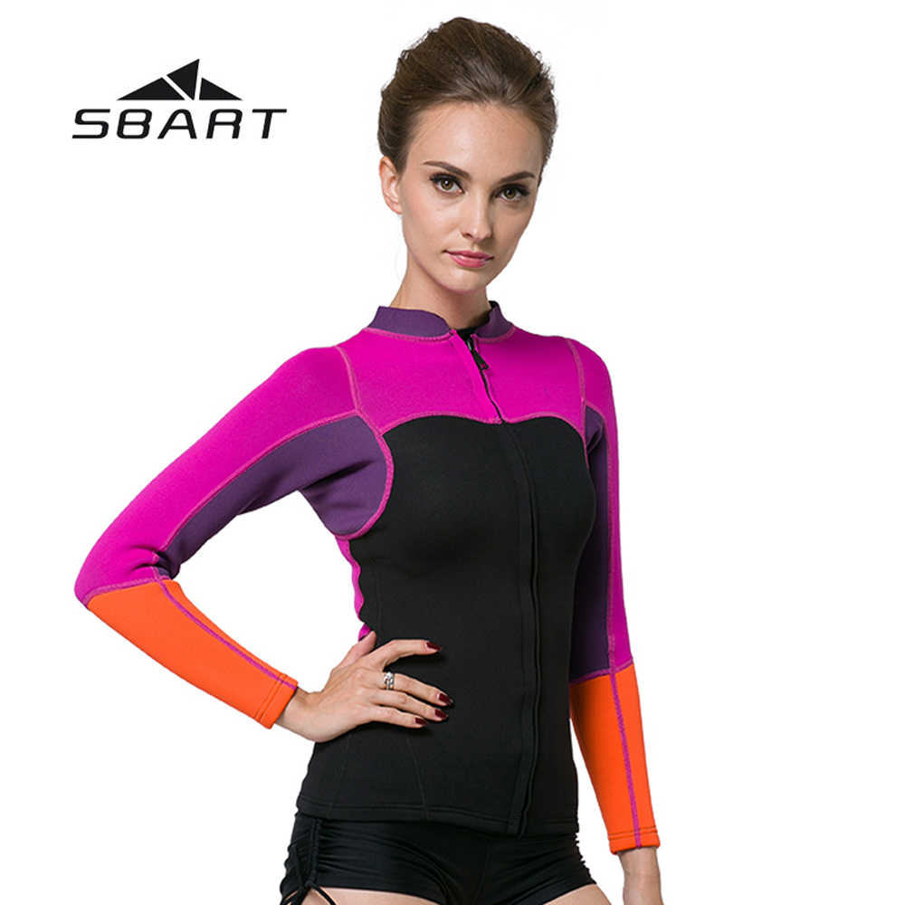 SBART Triathlon Rash Guard Zwemmen Windsurfen Badpak 2mm Neopreen Vrouwen Scuba Duiken Jas Kite Surfen Snorkelen Wetsuit