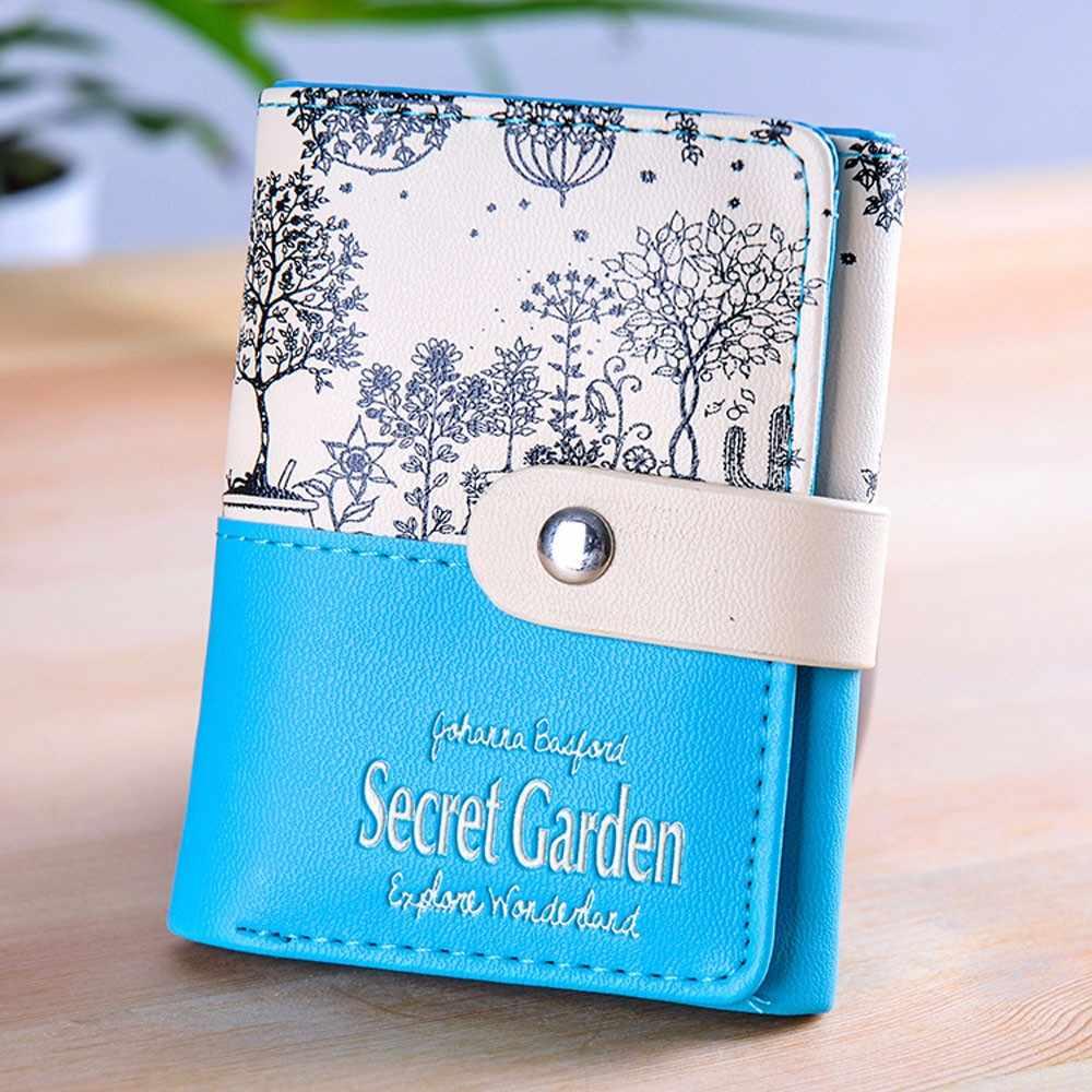 Лидер продаж кошелек женский секретный сад короткий кошелек для монет бумажник, держатели карт кошелек конфетных оттенков женский Carteira Feminina
