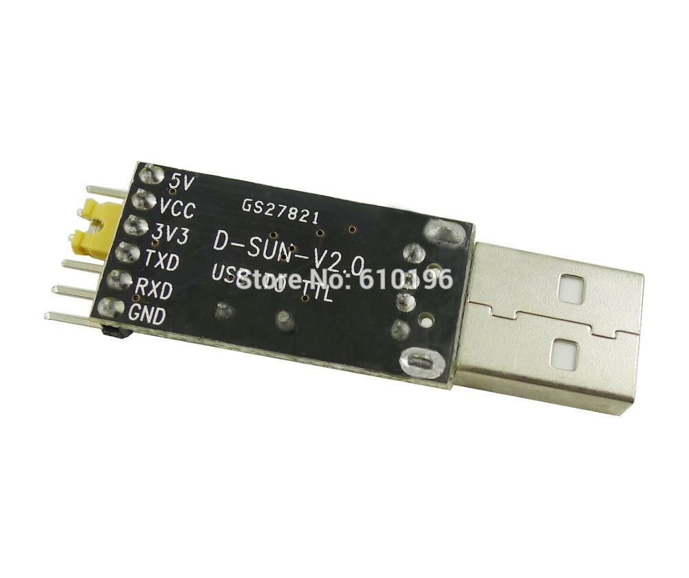 1PCS USB to TTL UART Module CH340G CH340 3.3V 5V Serial Converter Switch Instead of CP2102 PL2303