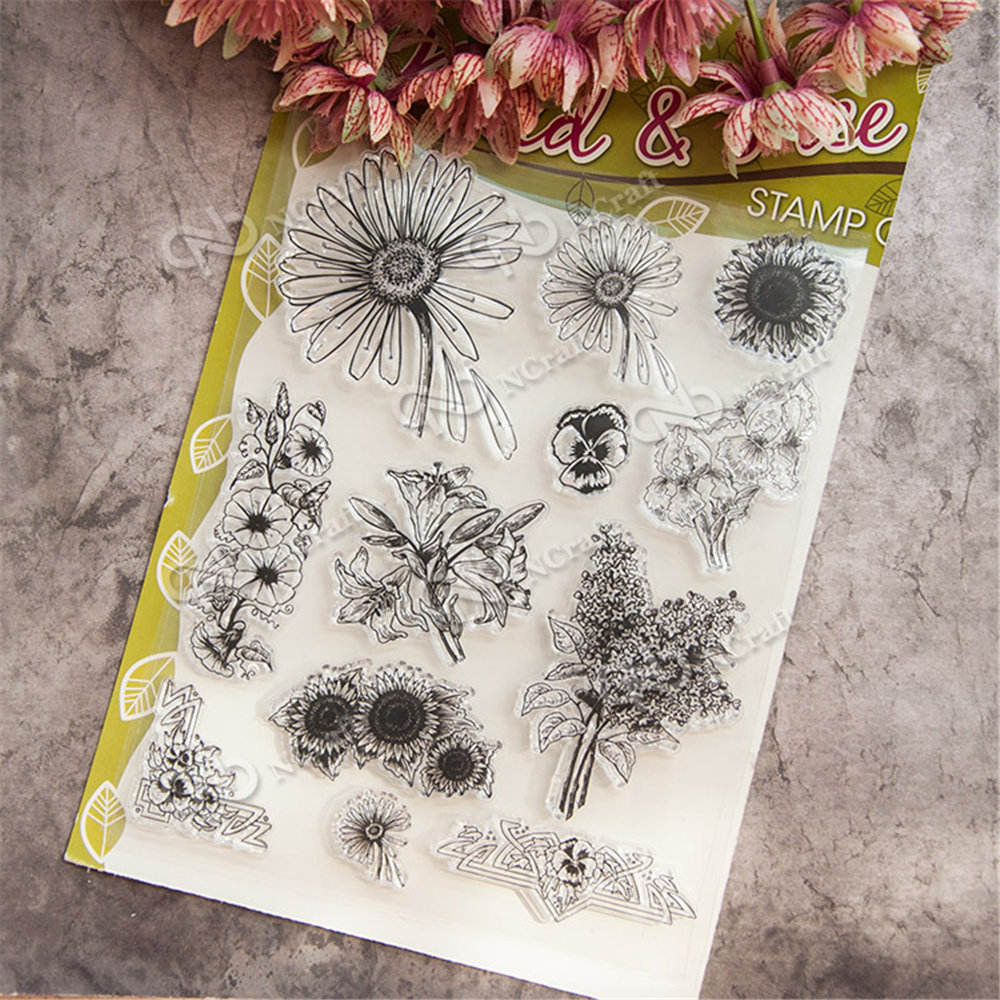 Peacock Flourishes Pattern Transparent Clear Stamp Seal for DIY Photo Album Scrapbooking Card Making Hand Account Decor Supplies lovely animals and ballon design transparent clear silicone stamp for diy scrapbooking photo album clear stamp cl 278