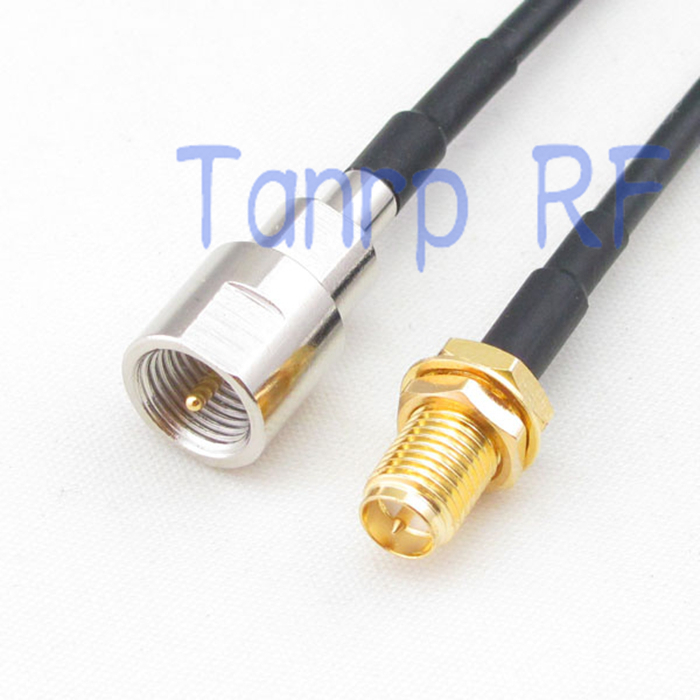 6in FME male plug to RP-SMA female jack RF connector adapter 15CM Pigtail coaxial jumper cable RG174 extension cord
