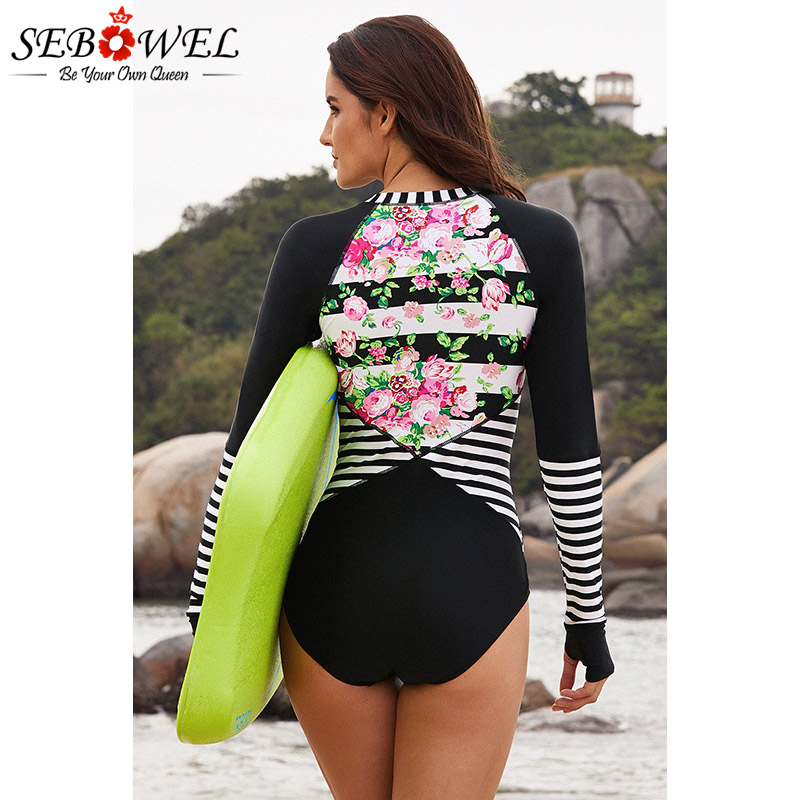 Pink Queen Womens Cut Out Zip-up Pad UV Protection Rashguard Swimwear
