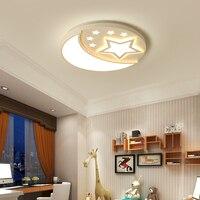 Луна и звезды люстра для детской комнаты детская комната акриловая блеск luminaria lampadario Современная светодио дный светодиодная люстра освещен