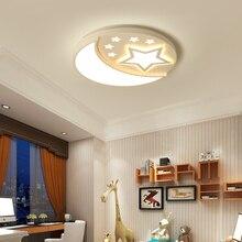 Moon and stars Chandelier for kids room children acrylic lustre luminaria lampadario modern Led lighting