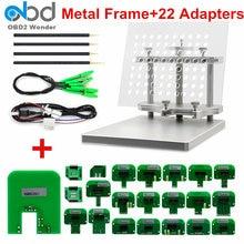 2020 paslanmaz çelik LED BDM çerçeve ile tam 22 adaptörler ECU programcı Metal BDM çerçeve prob ile 22 BDM adaptörleri