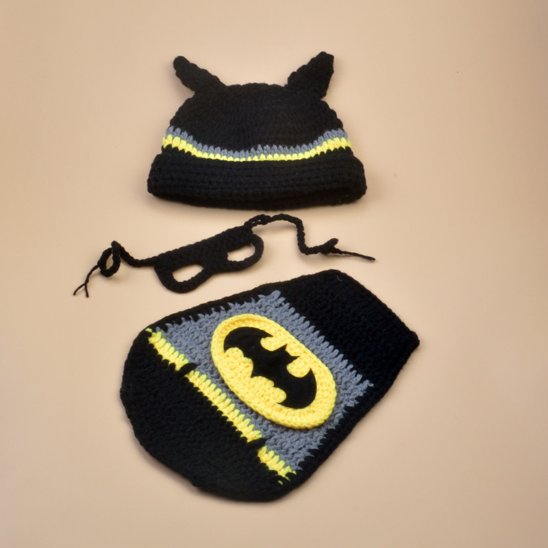 Baby U0026 Toddler Clothing Hats Crochet Newborn Baby Boys Photography Props  Knitted Infant Batman Costumes