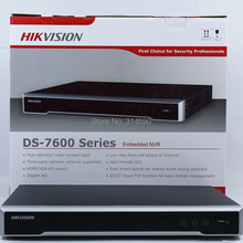 FreeShipping DHL Hikvision DS-7616NI-I2 16CH NVR Supporting Third-party Camera,plug& play H.265 Hikvision NVR