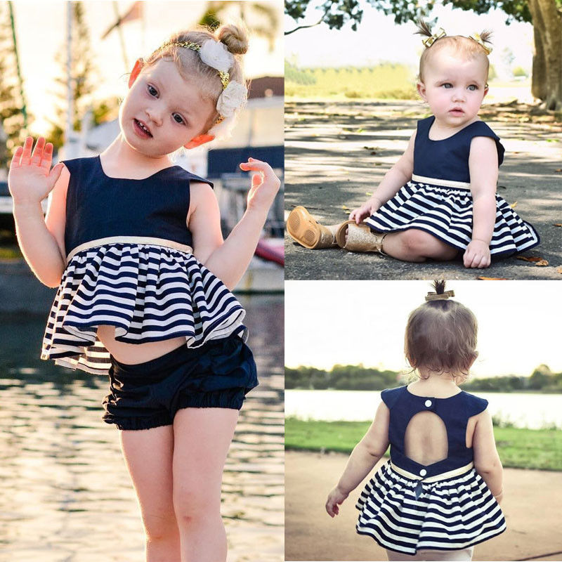Newborn-Baby-Girls-Party-Princess-Pageant-Tutu-Dress-Kid-Toddler-Navy-Blue-Dresses-1
