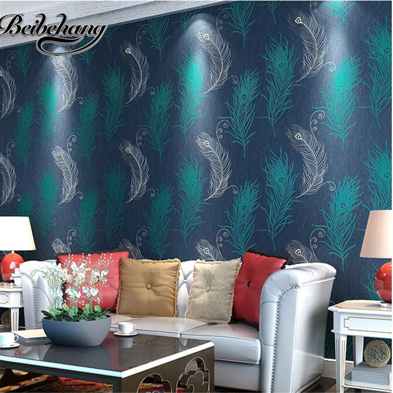 beibehang non-woven imitation embroidery wallpaper 3d stereo relief warm bedroom living room TV backdrop papel de parede 2018 new girls in the winter of the south korean version of the thick down jacket with a long coat in the hair collar and jacket