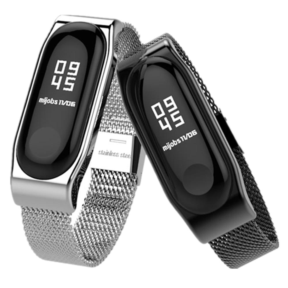 Bracelet mi Band 2 Bracelet métal sans vis en acier inoxydable Bracelet bracelets mi band 2 remplacer les accessoires pour Xiao mi Band 2