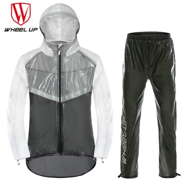 02350254382 WHEEL UP 2018 MEN Waterproof Cycling jacket MTB Bike Motorcycle Bike Jersey  Anti-Sweat Reflective bicycle Clothing Raincoat